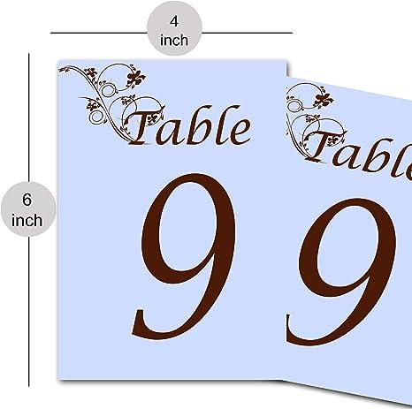 RADANYA Signos de número de Mesa números de Mesa para Boda ...