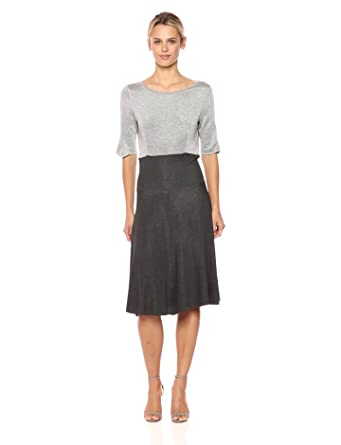 0729e65a680 Amazon.com: Three Dots Women's Reversible Colorblock Knit Long Loose ...
