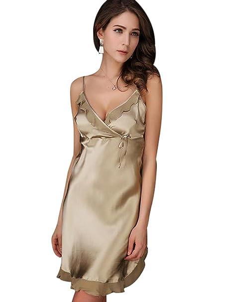 MEISHINE® Mujer Ropa de Dormir de 100% Seda Elegante Mujer Pijama Vestido Kimono (