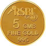 RSBL  5 gm, 24k (995) Yellow Gold Ecoins Precious Coin