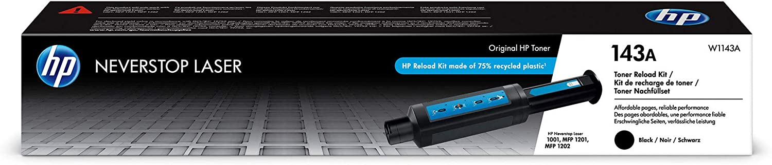 HP 143A | Original Neverstop Toner Reload Kit | Black | W1143A