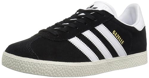 Adidas Youth Gazelle Black White Suede Trainers 35.5 EU