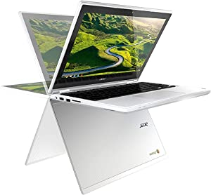 "Acer R11 11.6"" Convertible 2-in-1 HD IPS Touchscreen Chromebook - Intel Quad-Core Celeron N3150 1.6GHz, 4GB RAM, 32GB SSD (Certified Refurbished)"
