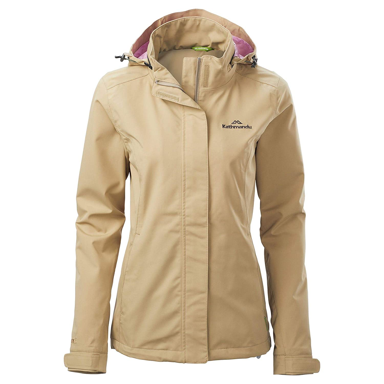 Olive Grey 14 Kathmandu Andulo Womens 2 Layer Windproof Waterproof Outdoor Hiking Rain Jacket Women's
