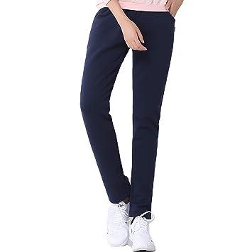 57611dfa79 SEEU Women's Winter Thick Warm Fleece Lined Sport Pants, Blue, L ...
