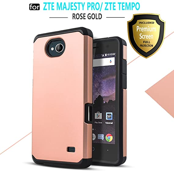 save off 39712 a9043 Star Shock Absorption Cases Compatible for ZTE Majesty Pro/ZTE Majesty Pro  Plus/ZTE Tempo Phone with [Premium HD Screen Protector Included] Dual ...