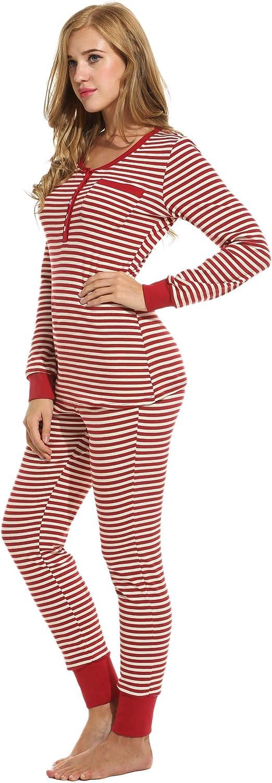 Ekouaer Women Pajamas Set Long Sleeve 2 Piece PJ Sets Top with Pants Sleepwear Set Cozy PJ Set Cotton Sleep Sets S-XXL