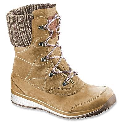 Amazon Com Salomon Women S Hime Mid Leather Cswp Winter Wear Shoe