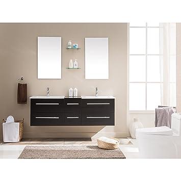 Konzept Usine Venus Wenge: Gemeinsam Badezimmer Waschtisch + 2 Mementos + 2  Spiegel