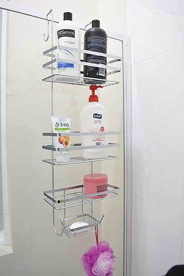 Over Door Shower Caddy 4 Tiers Storage Rack Bathroom Shelf Holder ...