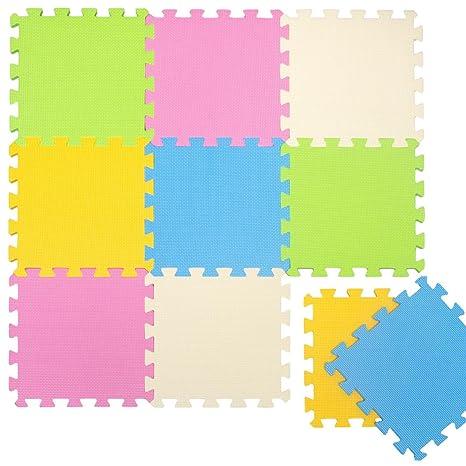 fb6a3d5328a LittleTom TÜV Probado Alfombras Puzzle para Bebés Suelo Goma EVA Colores  Pastel