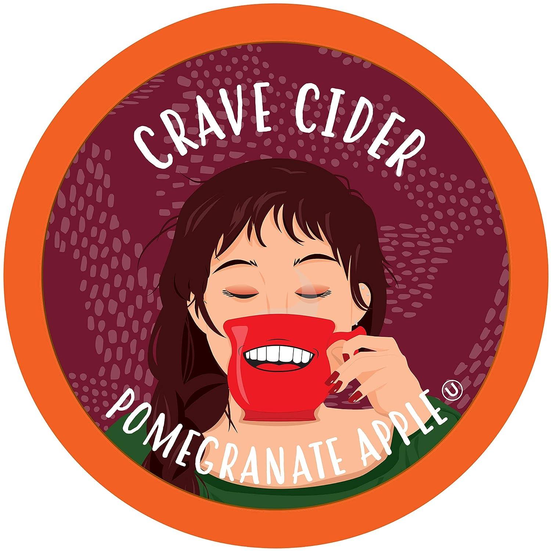 Crave Beverages Hot Cider Pods, Pomegranate Apple for Keurig K Cup Brewers, 40 Count