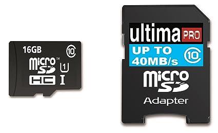 Memzi 16 GB Clase 10 40 mb/S Ultima Pro tarjeta de memoria Micro ...
