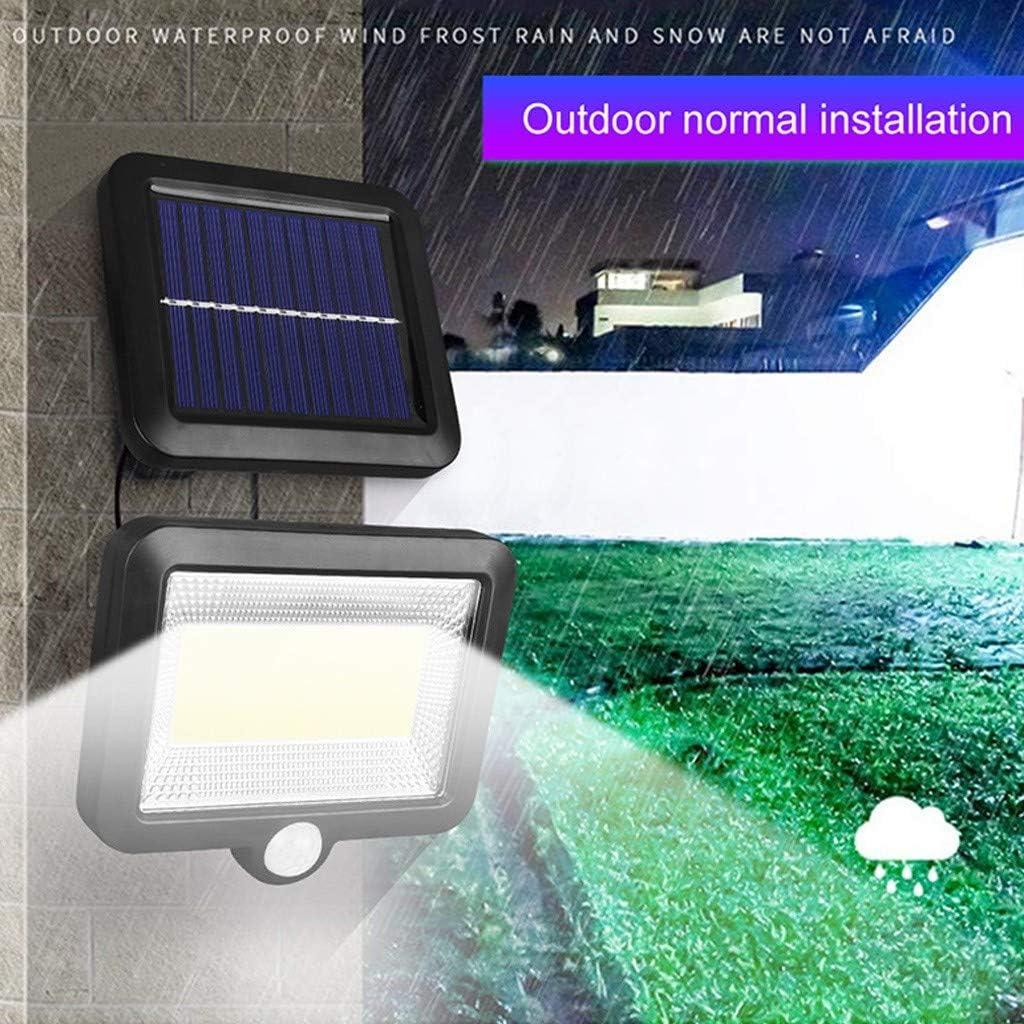 Details about  /Solar Power Light Garden Path Outdoor Wall Flood Lamp 100 LED PIR Motion Sensor