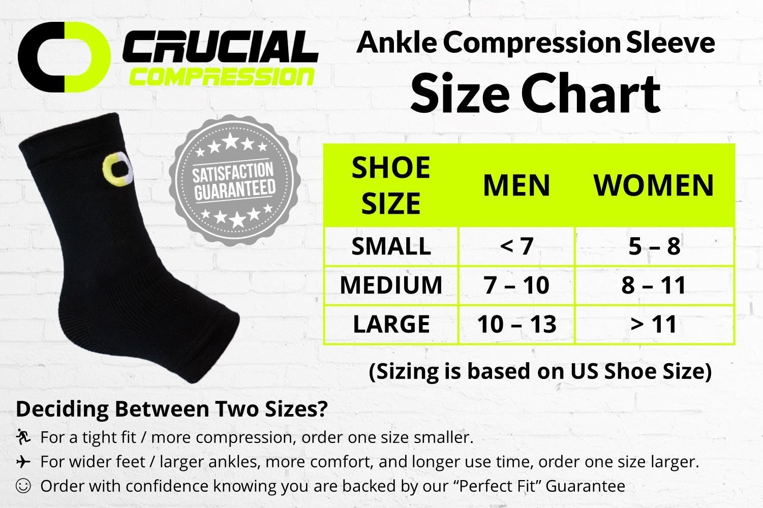 Ankle Brace Compression Sleeve for Men & Women (1 Pair) – BEST Ankle Support Braces for Pain Relief, Injury Recovery, Swelling, Sprain, Achilles Tendon Support, Heel Spur, Plantar Fasciitis Foot Sock by Crucial Compression (Image #2)