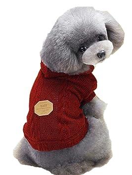 INTERNET Ropa para Perros, Suéter para Mascotas Invierno Perro Invierno Ropa Chaqueta Capa (S, Rojo): Amazon.es: Juguetes y juegos