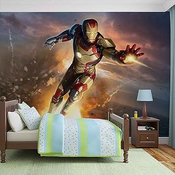 Iron Man Marvel Avengers Forwall Fototapete Tapete Fotomural Mural Wandbild