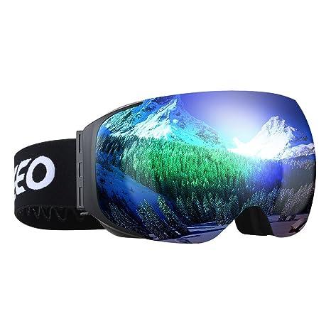 enkeeo occhiali da sci  Enkeeo Occhiali da Sci Lente Doppio Strato Anti-Nebbia Anti-Vento ...