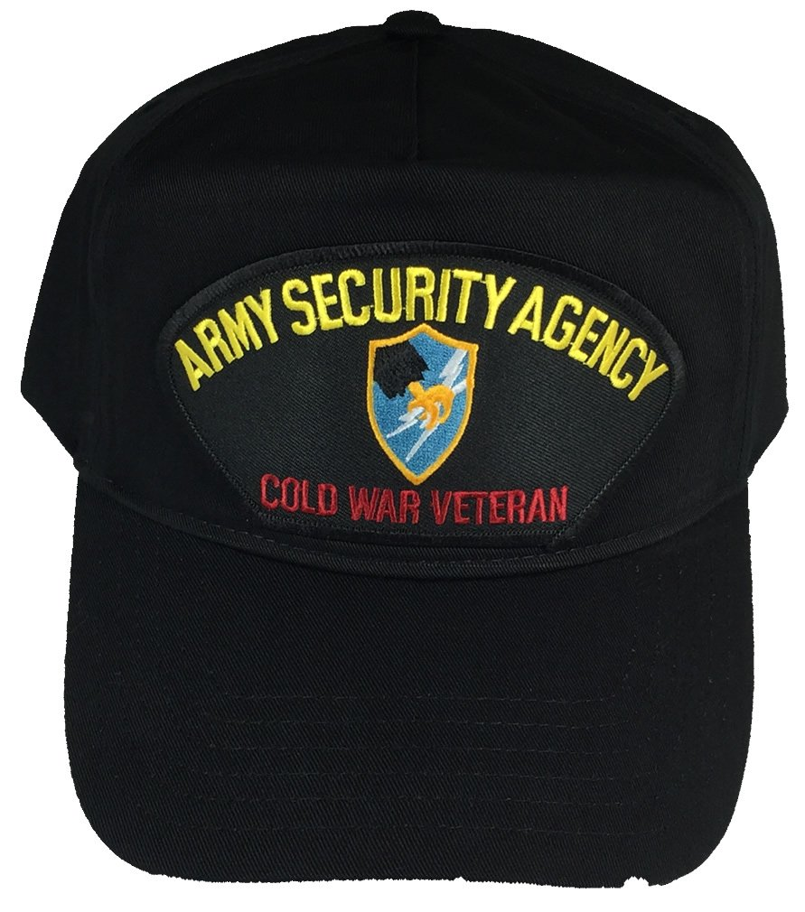 ARMY SECURITY AGENCY COLD WAR VETERAN WITH CREST HAT - BLACK - Veteran Owned Business