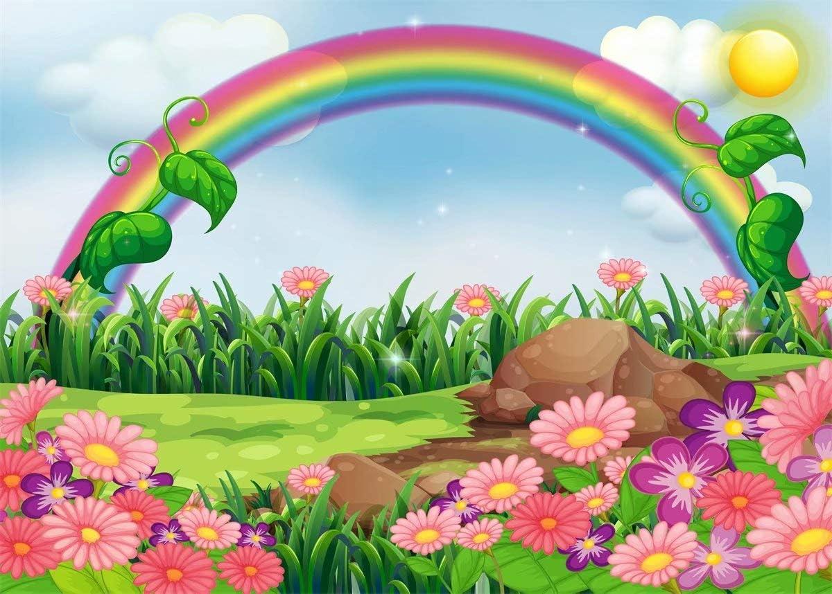 Amazon.com: BELECO - Fondo de jardín con dibujos animados de ...