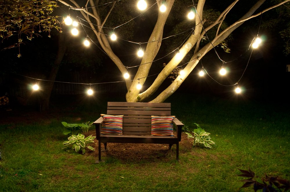 Bulbrite STRING15/E26-S14KT Outdoor, Garden, Patio, Wedding, Party, Holiday, Lawn, and Landscape String Light w/Incandescent Bulbs, 48-Feet, 15 Lights by Bulbrite