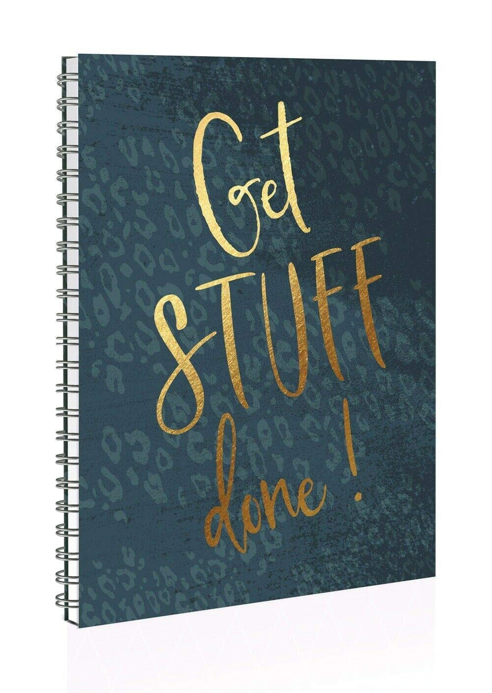 A5Get Stuff Done Green Twin Wire Soft Cover Study Notebook With Dividers