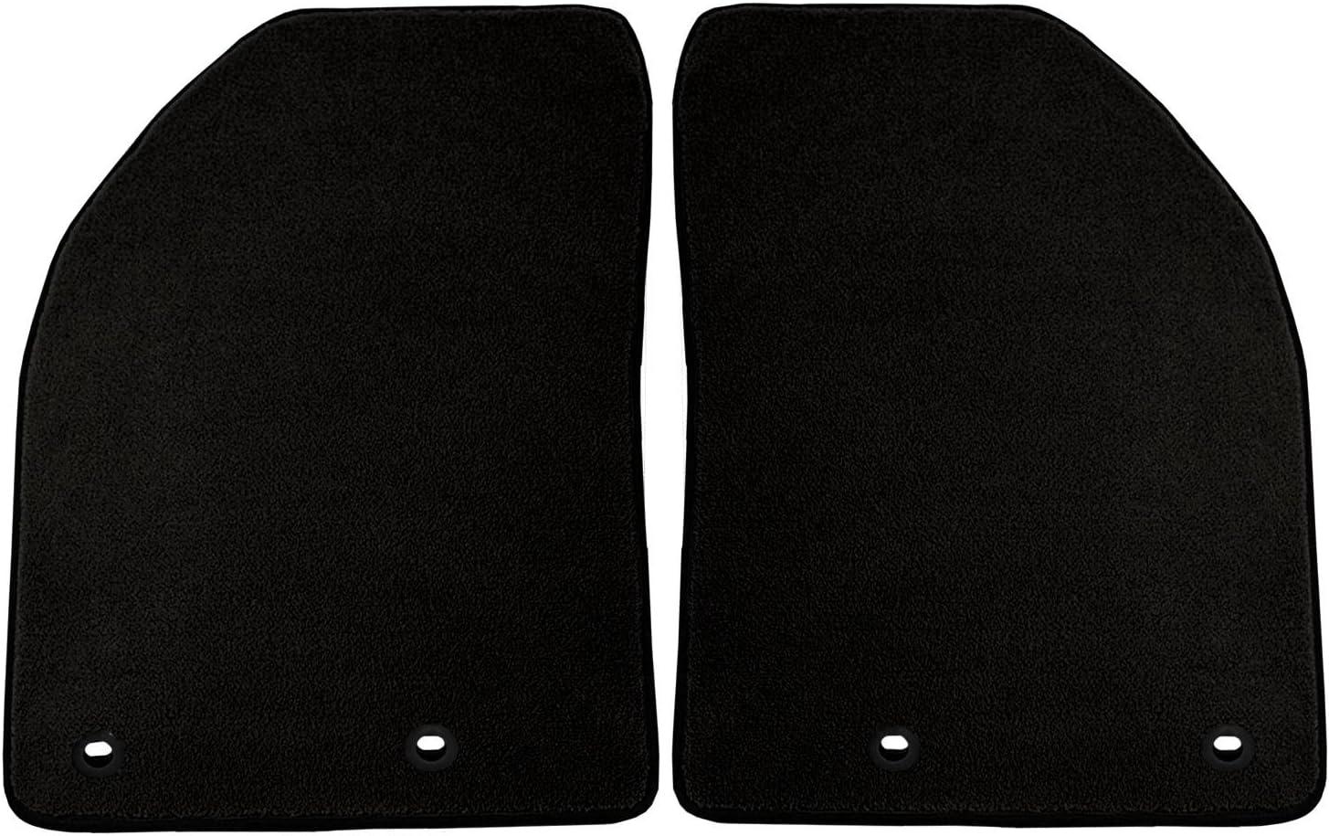 Black Coverking Custom Fit Front Floor Mats for Select Three Hundred Series Models Nylon Carpet