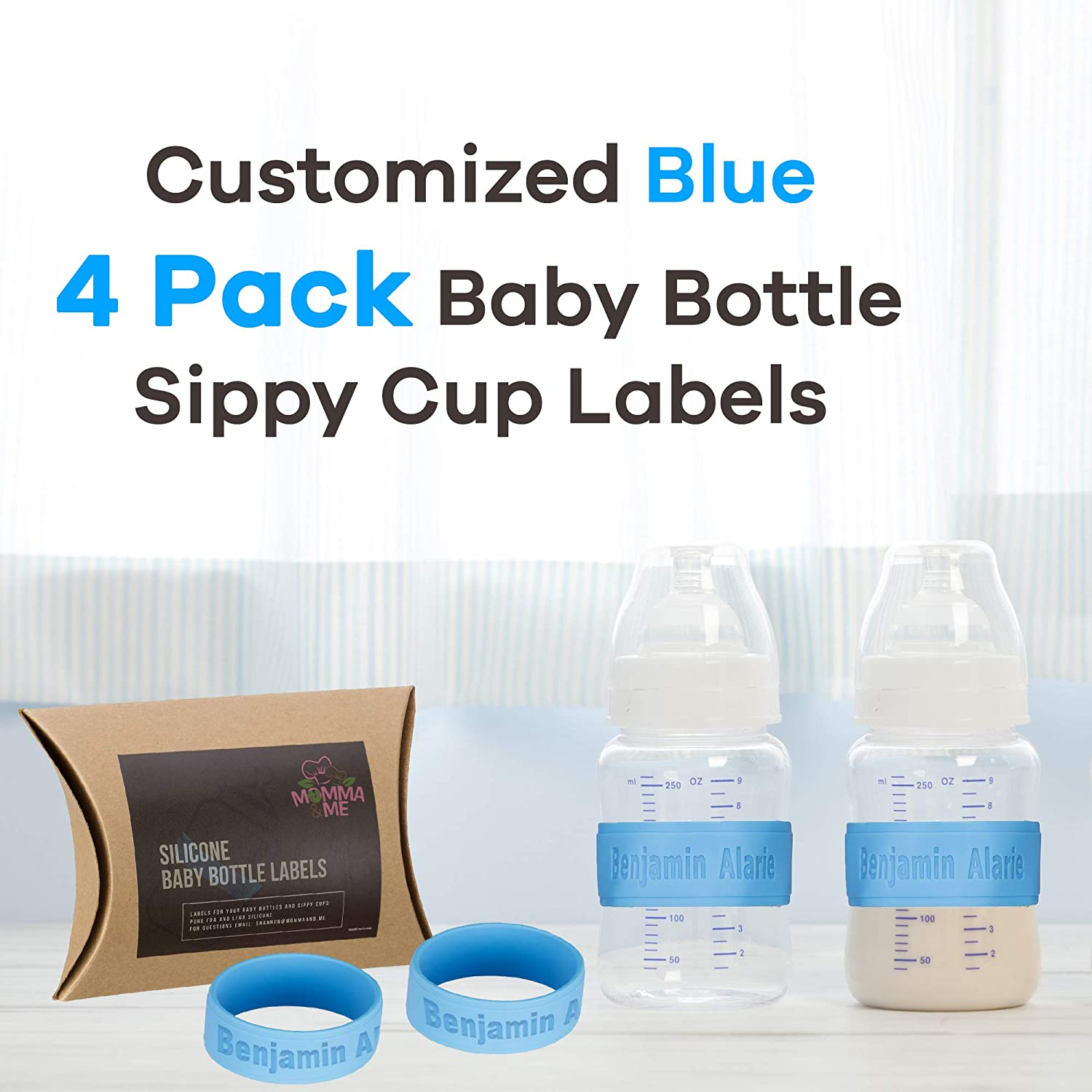 Custom Baby Bottle Formula Name Decals Stickers Personalized Free Shipping!