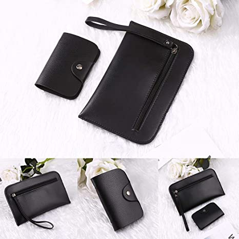 c0800243d8f Amazon.com: Fandazzie 2 Pcs Women Leather Wallet 2 in 1 Square ...