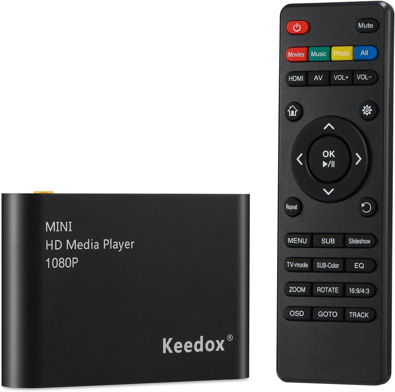 HDMI MEDIA PLAYER 1080P HDD RM RMVB DIVX AVI MKV USB SD MPEG JPEG MOV SDHC