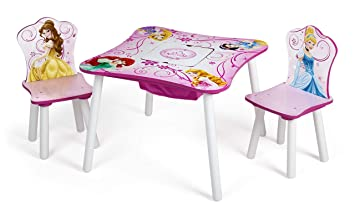 Amazoncom Delta Children Table And Chair Set With Storage Disney