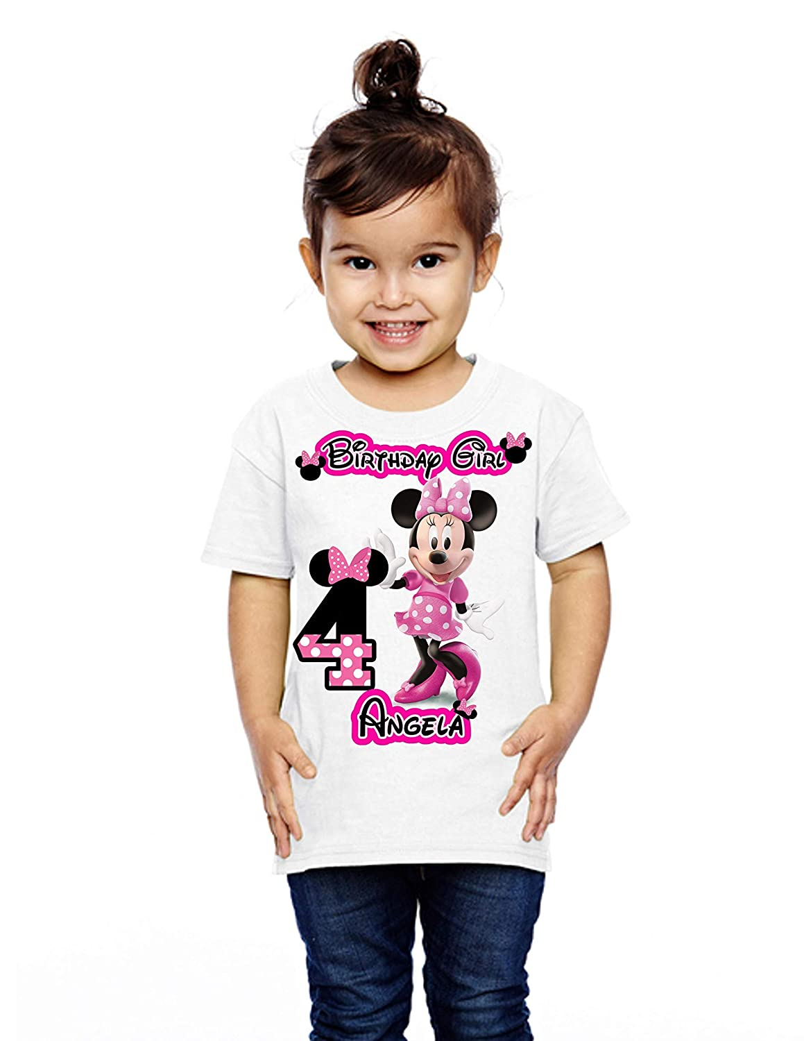 birthday gift Birthday Girl Personalized shirts Gift for girl Minnie Mouse party shirts Minnie party shirts Shirts Minnie Mouse