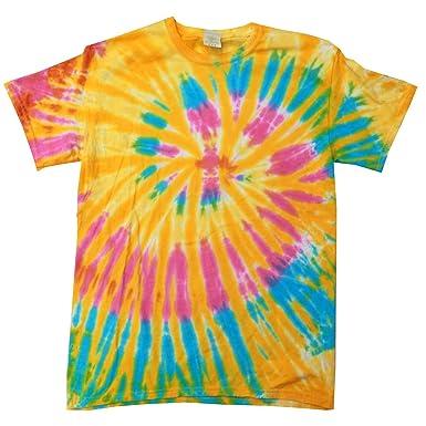 Colortone Damen Batikdruck T Shirt Farben Regenbogen Amazonde