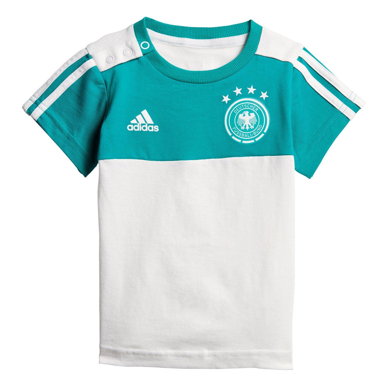 Adidas DFB 3 Stripes Summer Set Camiseta & Pantalón, Infantil, CF2490, EQT Green s16/White, 92: Amazon.es: Deportes y aire libre