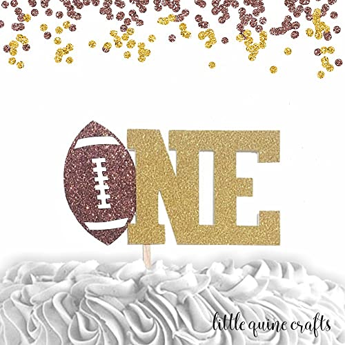 Amazon Com 1 Pc One Football Theme Cake Topper First Birthday Cake