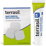 Permanent Wart Remover with Pads - Safe for Sensitive Skin Dr Recommended 100% Guaranteed All Natural Pain Free Salicylic Acid Free Patented Treatment for Plantar Genital Facial Warts by Terrasil