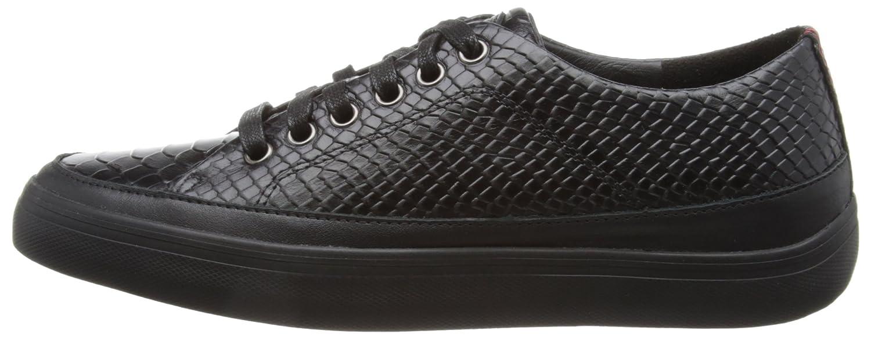 Fitflop Super T - Snake - Zapatillas de cuero mujer, color negro, talla 35 (3 UK)
