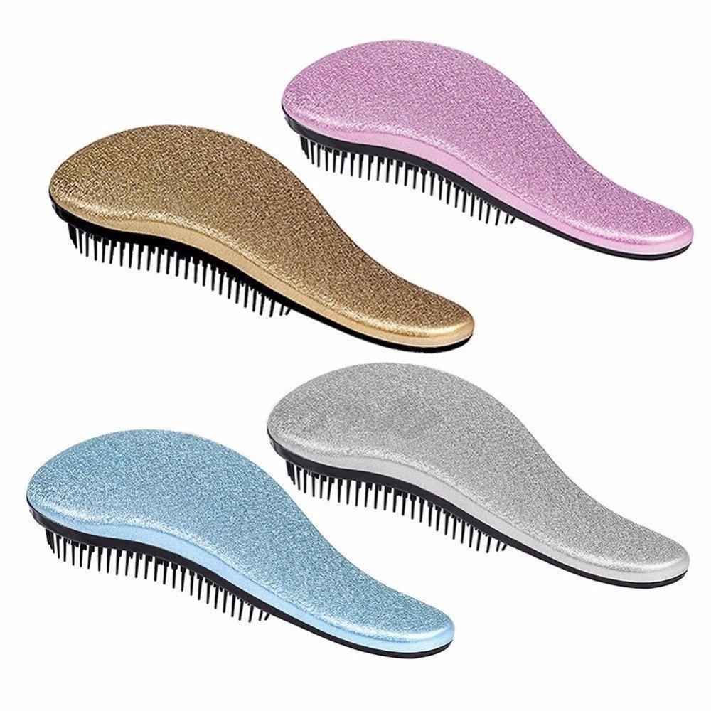 Detangling Hairbrush Comb- Glide Through All Types of Natural & Tangled Hair - Dry & Wet Hair Brush- Gold Sparkle Hair Detangler Brush - For Kids, Women, Men (Gold) by Outopest (Image #4)