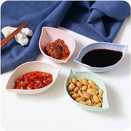 Condimento Plato – Vajilla para aperitivos plato japonés vinagre especias ensalada Salsa de soja Wasabi Sushi