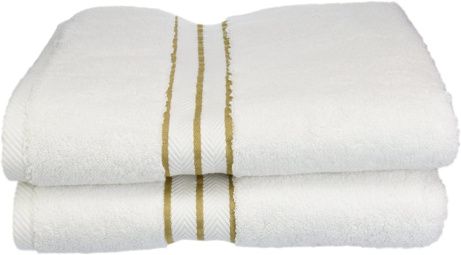 SUPERIOR Egyptian Cotton 6-Piece Towel Set with Color Border