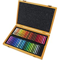 Conte A Paris Pastel Seco Caixa de Madera, Crayons Carres, 48 Cores, Pacote de 1