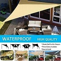 FidgetGear Waterproof Triangle 11.8' Square Sun Shade Sail Cloth Outdoor Canopy Awning