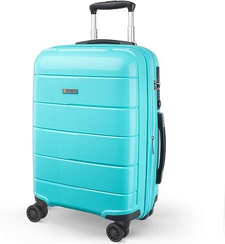 REYLEO Expandable Luggage 20 Inch PP Carry on Luggage Travel Suitcase