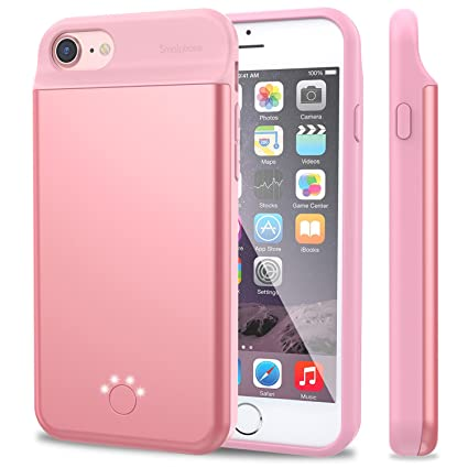 Amazon.com: iPhone 7 6 6S batería Caso, smaiphone 5500 mAh ...