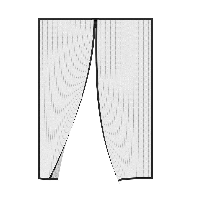 AMZERO Corredera Cortina Mosquitera Magnética Mosquiteras para Puertas Magnética Automático con Malla Super Fina para para Puertas Correderas/Balcones/Terraza - Negro 95x215cm(37x85inch): Amazon.es: Hogar