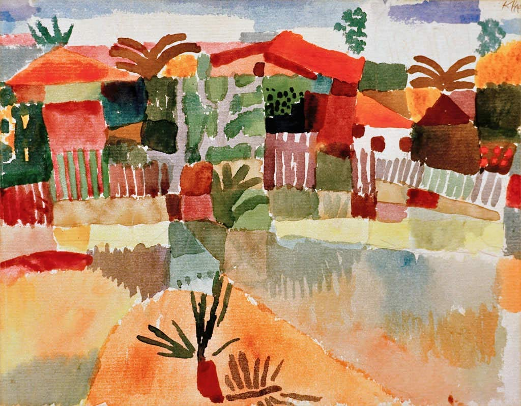 Kunst für Alle Impresión artística/Póster: Paul Klee St Germain b Tunis -  Impresión, Foto, póster artístico, 50x40 cm: Amazon.es: Hogar