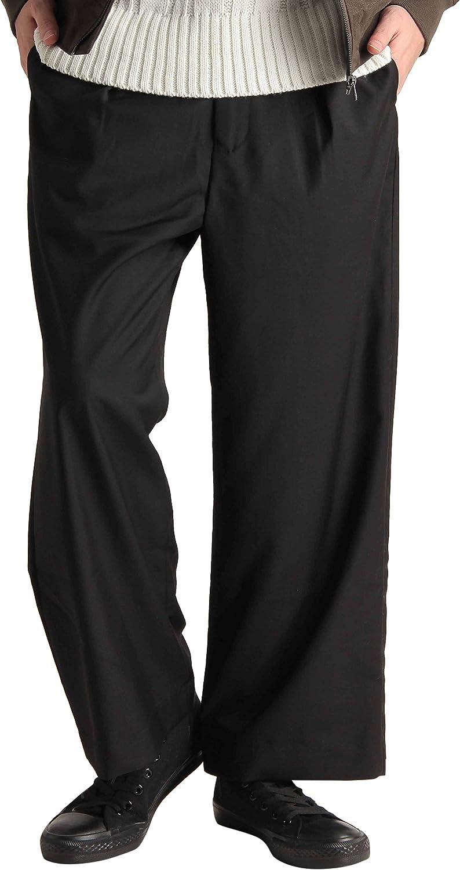 ワイド シルエット ガウチョパンツ ワイドパンツ アンクルパンツ ストリートモード リゾート イージーパンツ メンズ ブラック Mサイズ