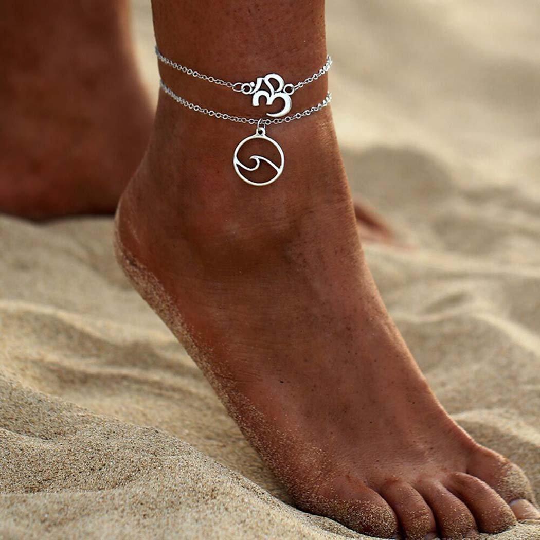 Simsly Bracelet de cheville Gypsy Yoga Accessoires Bijoux de pied réglable pour femmes et filles Jl-119