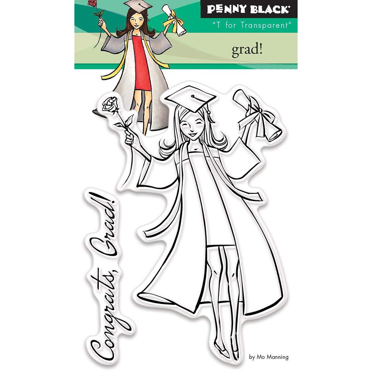 10,16/x 12,7/x 0,5/cm Penny Black Sellos,