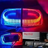 Nilight® 240 LED Blue & Red Emergency Hazard Warning LED Mini bar Strobe Light w/ Magnetic Base